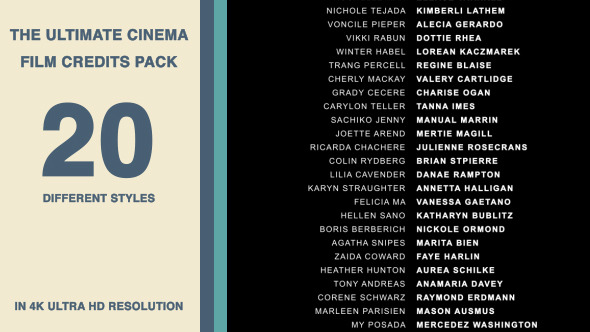 20 Cinematic Film Credits Pack - image preview