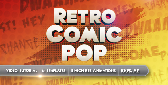 title-sequence-ae-template-project-file-preview-retro-comic-pop
