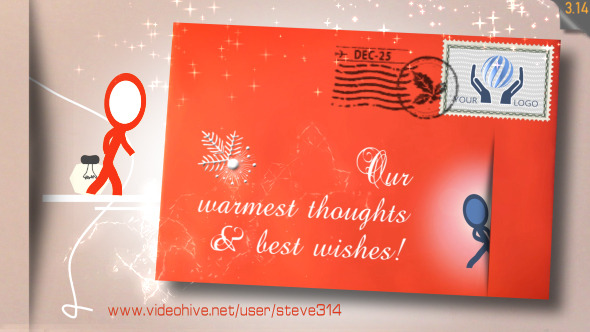 Inkman Christmas card After Effects