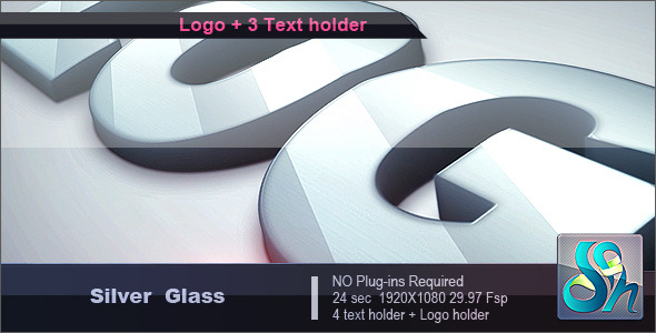 Preview-Silver-logo-metall-glass-reflect-shine-3d-after-effects-steel