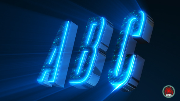 Abc 3d Neon Led- Alphabet And Social Icons