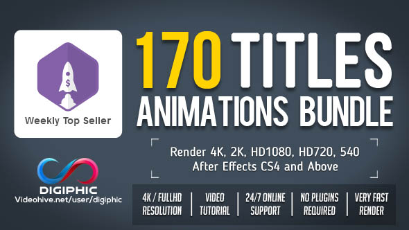 Preview Image - 170 Titles Animations Bundle