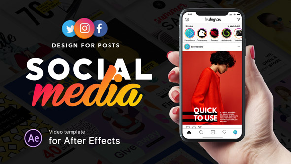 Social Media – Design for Posts – Project for After Effects