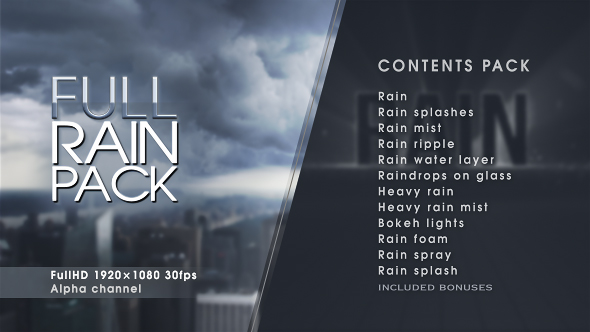 Rain 19558912 – After effects & Motion Graphics (Videohive)