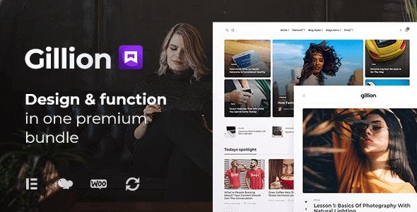 NULLED Gillion v4.0 - Multi-Concept Blog Magazine & Shop WordPress Theme