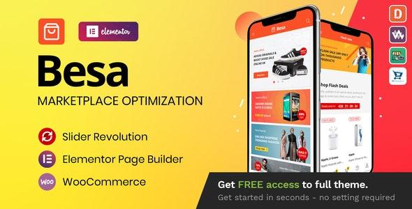 NULLED Besa v1.3.0 - Elementor Marketplace WooCommerce Theme