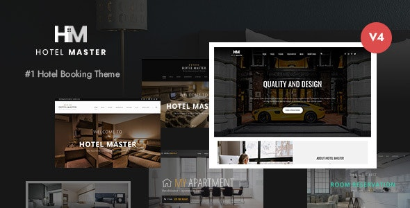 NULLED Hotel Master v4.1.2 - Hotel Booking WordPress Theme