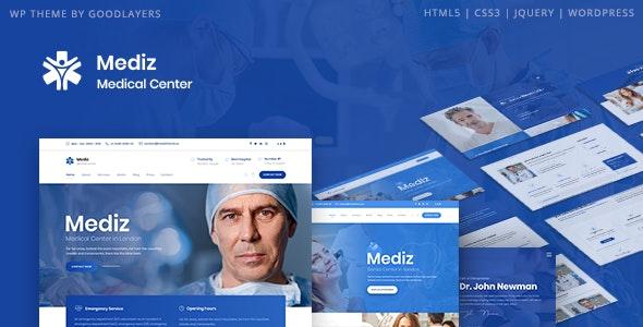 NULLED Mediz v2.0.3 - Medical WordPress Theme