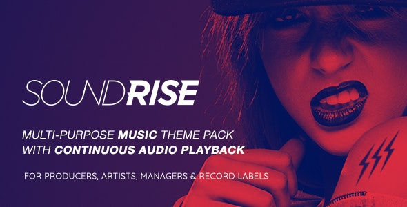 NULLED SoundRise v1.5.7 - Artists, Producers and Record Labels Theme